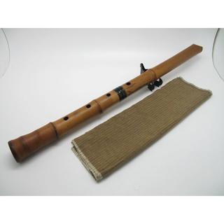 和楽器 尺八 竹菅 鈴風銘 58cm C#管 継管#0618(尺八)