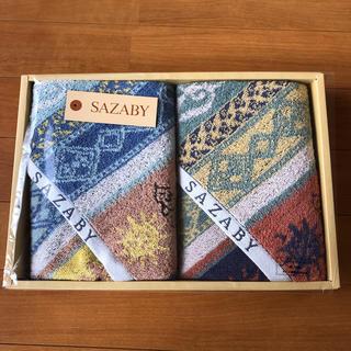 サザビー(SAZABY)のサザビーフェイスタオル2点セット(タオル/バス用品)