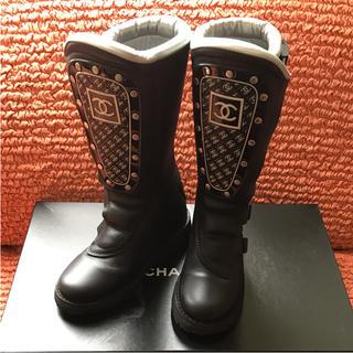 シャネル(CHANEL)のCHANEL  シャネル   超レア 正規品 ブーツ  37  CCマーク(ブーツ)