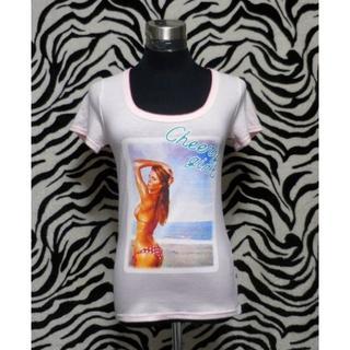 バレンタインハイ(ValenTine's High)の背リボン ピンクTシャツ☆M [1507-005](Tシャツ(半袖/袖なし))