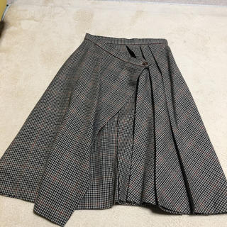 チユキ(CHIYUKI)のCHIYUKI チェック巻スカート(ひざ丈スカート)