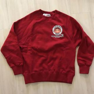 0824c3c607de9 フジヤ(不二家)のペコちゃん トレーナー 130 スウェット 赤(Tシャツ カットソー