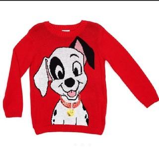 ディズニー(Disney)のUKストア 101ダルメシアンスパンコールセーター3歳用(ニット)
