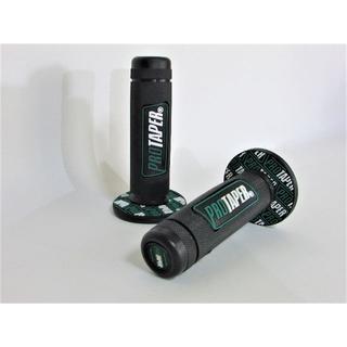 PRO TAPER プロテーパー バイク グリップ ブラック×緑(モトクロス用品)
