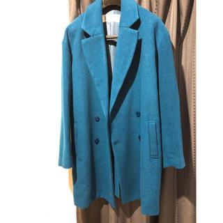 アゴストショップ(AGOSTO SHOP)のブルー コート(ロングコート)