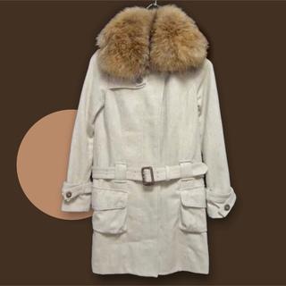 ゴア(goa)のGOA ゴア ボリュームファー コート ジャケット ウールコート ロングコート(トレンチコート)