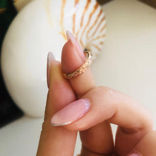 ロノ(LONO)の♡ 美品・14k・PinkGoldハワイアンジュエリー・ピンキーring♡(リング(指輪))