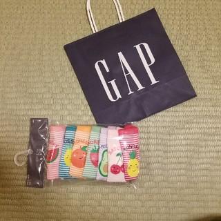 ベビーギャップ(babyGAP)の半額以下 110 ボーダーショーツ 7枚セット フルーツ柄(下着)