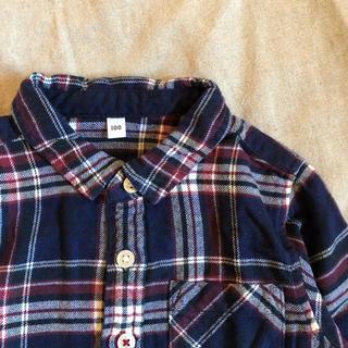 MUJI (無印良品) - 無印良品 / チェックシャツ 100cm