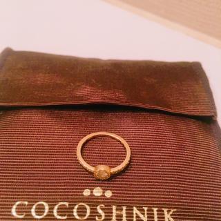 ココシュニック(COCOSHNIK)のココシュニックホワイトトパーズ&ダイヤモンドリング(リング(指輪))