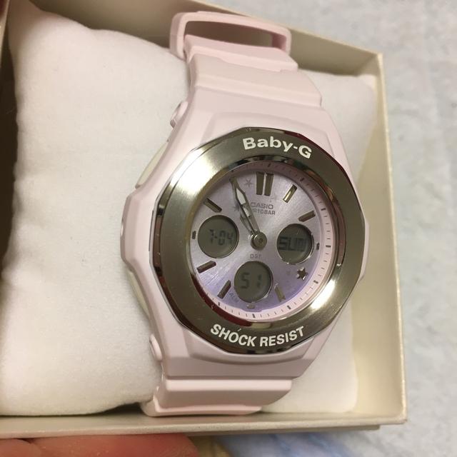 Baby-G(ベビージー)のベビーG-SHOCK ホワイト パープルピンク メンズの時計(腕時計(デジタル))の商品写真