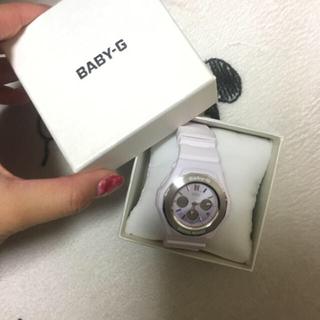 ベビージー(Baby-G)のベビーG-SHOCK ホワイト パープルピンク(腕時計(デジタル))