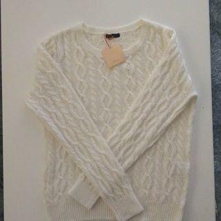 シェトワ(Chez toi)の新品タグ付 シェトワ リブ編みセーター(ニット/セーター)