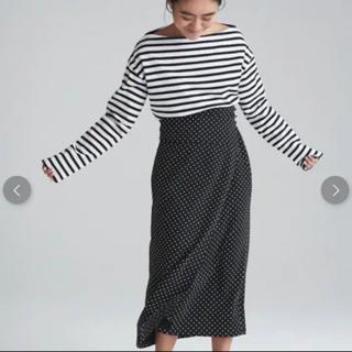 トゥモローランド(TOMORROWLAND)のマカフィー 金子綾さんコラボ ドットラップスカート(ロングスカート)