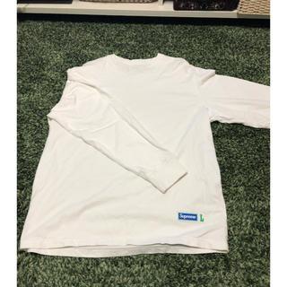 シュプリーム(Supreme)のSupreme 17FW athletic label ロンT L white(Tシャツ/カットソー(七分/長袖))