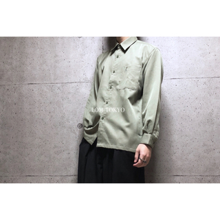 [used]dusty green herringbone shirt.(シャツ)