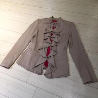サンローラン(Saint Laurent)のトムフォード イヴサンローランリヴゴーシュ ジャケット ベージュ 36号 スーツ(ノーカラージャケット)