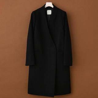 ユナイテッドアローズ(UNITED ARROWS)のUNITED TOKYO ノーカラー Vネック コート 今季 新品タグ付 値下(ロングコート)