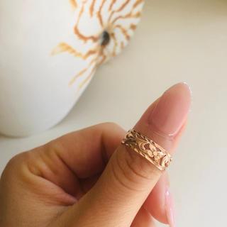 ロノ(LONO)の♡美品・pinkgoldピンクゴールド14Kハワイアンジュエリー 指輪リング♡(リング(指輪))
