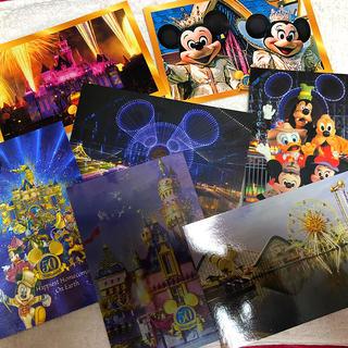 ディズニー(Disney)のカリフォルニアディズニーランド 50周年記念ポストカード 7枚セット(写真/ポストカード)