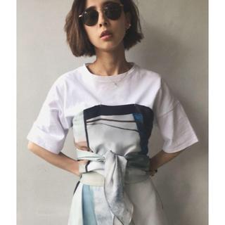 アメリヴィンテージ(Ameri VINTAGE)のAMERI♡MEDI DRAWING UNEVEN TEE(Tシャツ(半袖/袖なし))