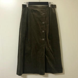 ジェイプレスレディス(J.PRESS LADIES)のコーデュロイスカート(ひざ丈スカート)