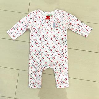 ベビーギャップ(babyGAP)の新品未使用 Petits la cie 長袖ロンパース 50.60(ロンパース)