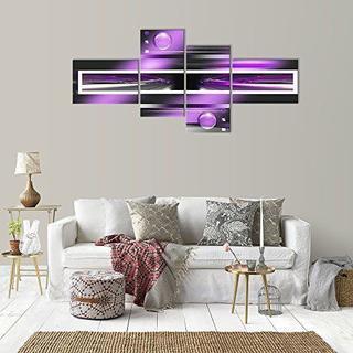 イームズ(EAMES)のインテリア ウォールアートパネル パープル 紫     油絵 壁掛け 絵画 油彩(絵画/タペストリー)