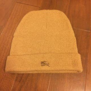 バーバリー(BURBERRY)のBurberry ニット帽 ブラウン(ニット帽/ビーニー)
