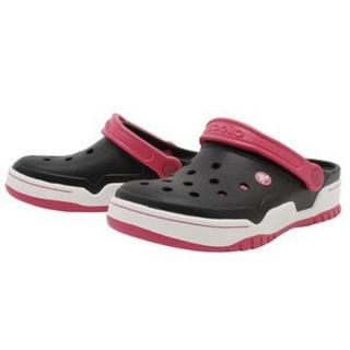 クロックス(crocs)の半額 スタート クロックス 26cm ブラック ピンク フロントコート クロッグ(サンダル)