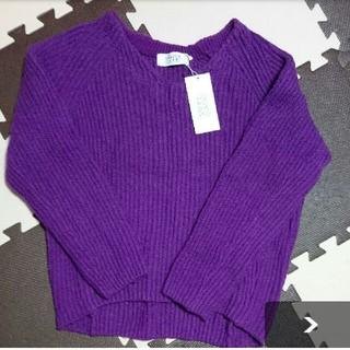 ローリーズファーム(LOWRYS FARM)の新品 M ニット ローリーズファーム パープル 紫色(ニット/セーター)