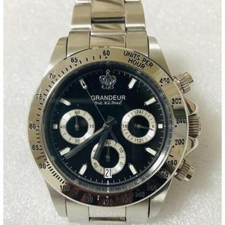 グランドール(GRANDEUR)の値下げ❗️GRANDEURグランドールクロノグラフ 腕時計 購入価格15000円(腕時計(アナログ))