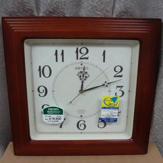 セイコー(SEIKO)のSEIKOセイコー クオーツ掛け時計 電波クロック■RX208B■ブラウン電池付(掛時計/柱時計)
