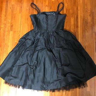 イーサンカラス(Isan Callas)の黒ドレス ワンピース(ミディアムドレス)