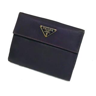 5dfffc62442b プラダ(PRADA)のPRADA プラダ 二つ折り財布 テスート×サフィアーノ バイオレット パープル(