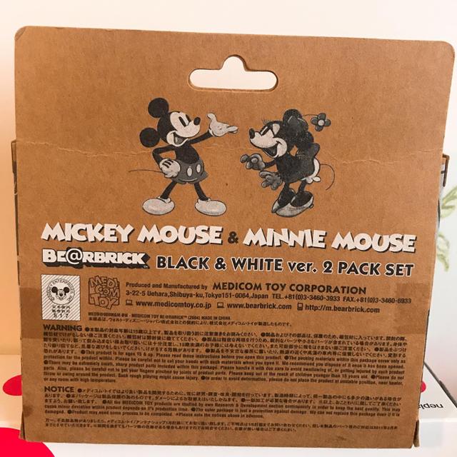 ベアブリック ミッキーミニー エンタメ/ホビーのおもちゃ/ぬいぐるみ(キャラクターグッズ)の商品写真
