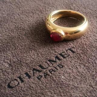 ショーメ(CHAUMET)のお買い得‼︎ CHAUMET K18YGルビーリング(リング(指輪))