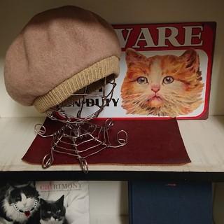 クーコ(COOCO)のウールベレー帽(ハンチング/ベレー帽)