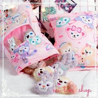 ディズニー(Disney)のダッフィー抱き枕 クッション クッキー ぬいぐるみセット(枕)