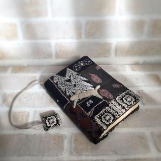 ミナペルホネン(mina perhonen)のハンドメイド♡カケラ合わせのブックカバー(ブックカバー)
