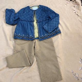 ギンザノサエグサ(SAYEGUSA)のサエグサ のパンツと刺繍デニムのジャケットのセット110cm(パンツ/スパッツ)