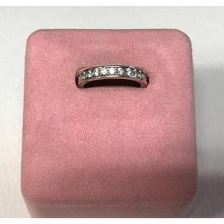 10新品 SILVERシルバー フルエタニティリング ジルコニア指輪クリア 4号(リング(指輪))