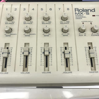 ローランド(Roland)のステレオ4チャンネルミキサー 電源アダプター付き MX5 ROland (ミキサー)