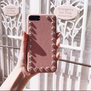 リエンダ(rienda)のdarich レザースタッズiPhoneケース(iPhoneケース)