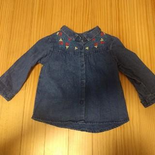 ザラ(ZARA)のZara Baby Girl ダンガリーシャツ 80(シャツ/カットソー)