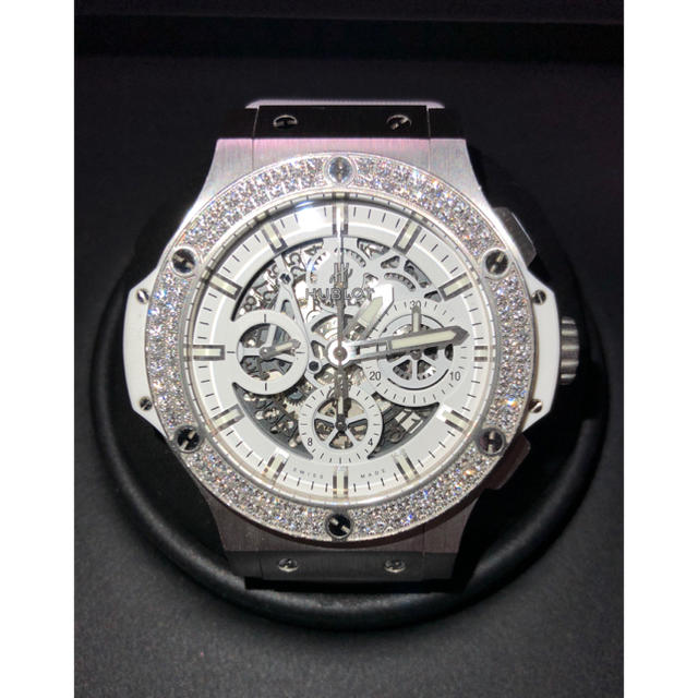 wholesale dealer 31dc0 81f96 HUBLOT ウブロ ビッグバン アエロバン オールホワイト ダイヤモンド | フリマアプリ ラクマ
