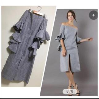 シックウィッシュ(Chicwish)の人気海外ブランドChicwish フリル袖ドレス(ひざ丈ワンピース)
