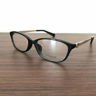 コーチ(COACH)の眼鏡 伊達メガネ 新品 ブラック 男女兼用(サングラス/メガネ)