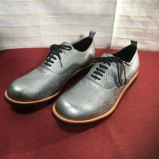 コムデギャルソンオムプリュス(COMME des GARCONS HOMME PLUS)の未使用 コムデギャルソン オムプリュス クロコ調 靴 正規品(ドレス/ビジネス)