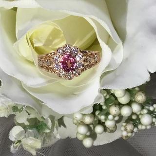 最終お値下げ♡大粒♡パパラチア ♡ ダイヤモンド ミルウチリング(リング(指輪))